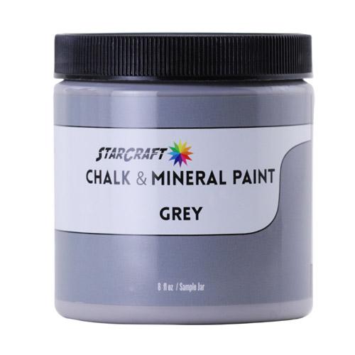 StarCraft Chalk & Mineral Paint-Sample, 8oz-Grey