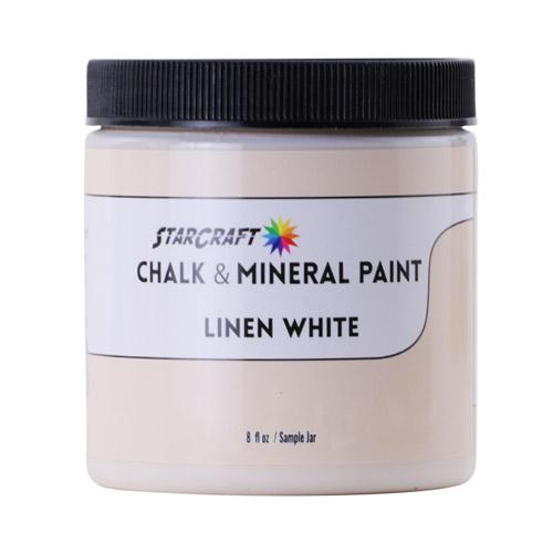 StarCraft Chalk & Mineral Paint-Sample, 8oz-Linen White