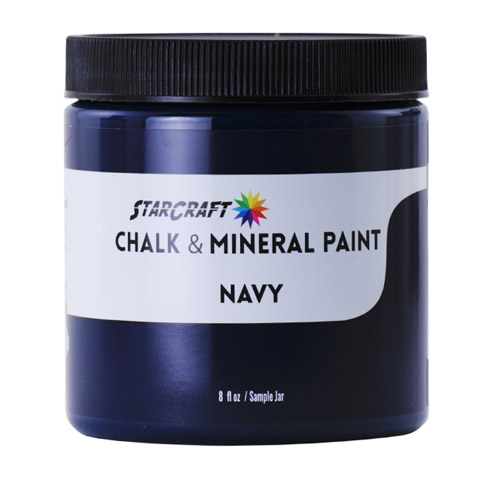 StarCraft Chalk & Mineral Paint-Sample, 8oz-Navy