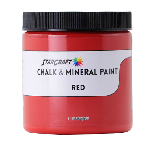 StarCraft Chalk & Mineral Paint-Sample, 8oz-Red