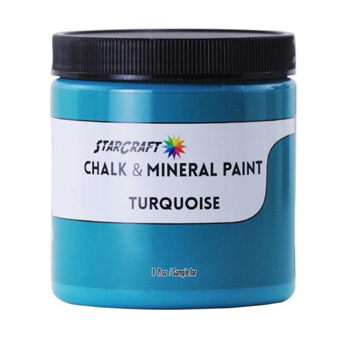 StarCraft Chalk & Mineral Paint-Sample, 8oz-Turquoise