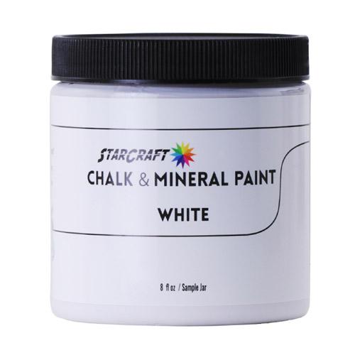 StarCraft Chalk & Mineral Paint-Sample, 8oz-White