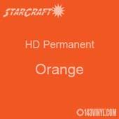 "12"" x 5' Roll - StarCraft HD Glossy Permanent Vinyl - Orange"