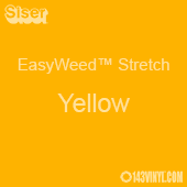 """12"""" x 24"""" Sheet Siser EasyWeed Stretch HTV - Yellow"""
