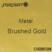 """12"""" x  24"""" Sheet - StarCraft Metal - Brushed Gold"""
