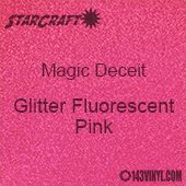 """12"""" x 12"""" Sheet - StarCraft Magic - Deceit Glitter Fluorescent Pink"""