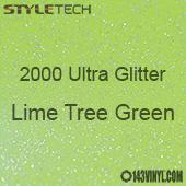 "StyleTech 2000 Ultra Glitter - 165 Lime Tree Green - 12""x12"" Sheet"