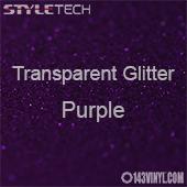 "StyleTech Transparent Glitter - Purple - 12""x24"" Sheet"