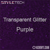 "StyleTech Transparent Glitter - Purple - 12""x12"" Sheet"