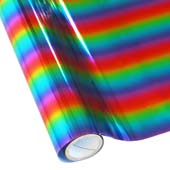 """25 Foot Roll of 12"""" StarCraft Electra Foil - Rainbow"""