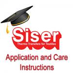 Application and Care Instructions for Siser HTV
