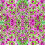 "Printed Pattern Vinyl - Pink and Green Art 12"" x 12"" Sheet"