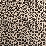 Faux Leather - 12 x 12 Sheet Black and White Leopard