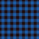 "Printed Pattern Vinyl - Blue Buffalo Plaid 12"" x 24"" Sheet"