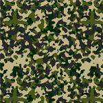"Printed Pattern Vinyl - Green Woodland Camo 12"" x 12"" Sheet"