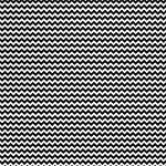 "Printed Pattern Vinyl - Black and White Chevron 12"" x 24"" Sheet"