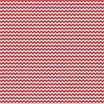 "Printed Pattern Vinyl - Red and White Chevron 12"" x 24"" Sheet"