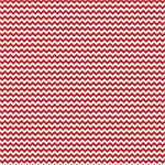 "Printed Pattern Vinyl - Red and White Chevron 12"" x 12"" Sheet"