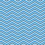 "Printed Pattern Vinyl - Blues Chevron 12"" x 12"" Sheet"