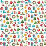"Printed Pattern Vinyl - Christmas Shapes 12"" x 24"" Sheet"