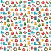 "Printed HTV Christmas Shapes Print 12"" x 15"" Sheet"