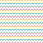 "Printed Pattern Vinyl - Pastel Chevron 12"" x 12"" Sheet"