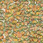 "Printed Pattern Vinyl - Farmhouse Pumpkins 12"" x 24"" Sheet"