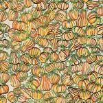 "Printed Pattern Vinyl - Farmhouse Pumpkins 12"" x 12"" Sheet"