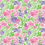 "Printed Pattern Vinyl - Roses and Berries 12"" x 24"" Sheet"