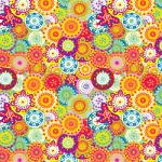"Printed Pattern Vinyl - Flower Power 12"" x 24"" Sheet"