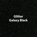 "Glitter HTV: 12"" x 20"" - Galaxy Black"