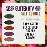 """5 Pack Siser Glitter HTV 12"""" x 20"""" - Fall Bundle"""