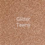 """Glitter HTV: 12"""" x 5 Yard Roll - Tawny"""