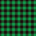"Printed Pattern Vinyl - Green Buffalo Plaid 12"" x 24"" Sheet"