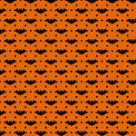 "Printed Pattern Vinyl - Orange and Black Bats 12"" x 12"" Sheet"