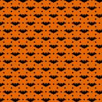 "Printed Pattern Vinyl - Orange and Black Bats 12"" x 24"" Sheet"