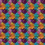 "Printed Pattern Vinyl - Hibiscus Floral 12"" x 12"" Sheet"
