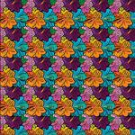 "Printed Pattern Vinyl - Hibiscus Floral 12"" x 24"" Sheet"