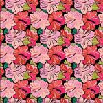 """Printed Pattern Vinyl - Pink Hibiscus 12"""" x 24"""" Sheet"""