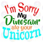 Dino Ate Your Unicorn Words