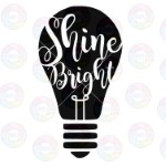 Shine Bright Light Bulb Autism Awareness