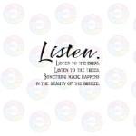 Listen Listen to the Birds