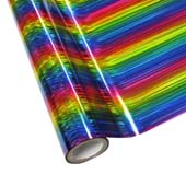 """25 Foot Roll of 12"""" StarCraft Electra Foil - Rainbow Lines"""
