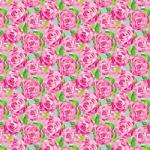 "Printed Pattern Vinyl - Lilly Inspired Roses 12"" x 24"" Sheet"