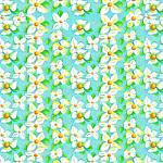 "Printed Pattern Vinyl -  White Lily 12"" x 24"" Sheet"