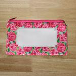 Small Zipper Pouch - Lily Inspired Roses