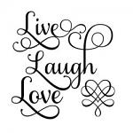 Free Download - Live Laugh Love Square