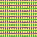 """Printed Pattern Vinyl - Mardi Gras Argyle 12"""" x 24"""" Sheet"""