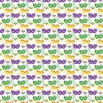 "Printed Pattern Vinyl - Mardi Gras Mask 12"" x 24"" Sheet"