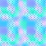 "Printed Pattern Vinyl - Blurred Mermaid Scales 12"" x 24"" Sheet"
